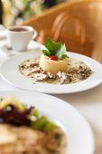 stock photo of veal  - Fricassee of veal in a mild cream sauce - JPG