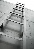 metal ladder on truck