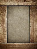 wood plank border on paint background