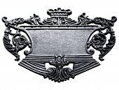 letrero de metal aislado con trazado de recorte
