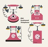 Vector old-fashioned telephone
