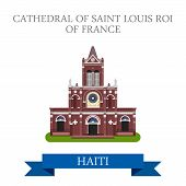 Постер, плакат: Cathedral of Saint Louis Roi of France in Haiti illustration
