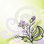 Resumen de antecedentes con un ramo de flores