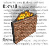 An illustration of a firewall