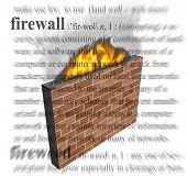 An illustration of a firewall