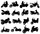 Siluetas de motocicleta