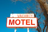 Motel Sign on side of road