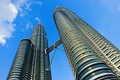 stock photo of klcc  - klcc twin tower malaysia - JPG