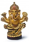 Golden Hindu God Ganesh, Clipping Path Included
