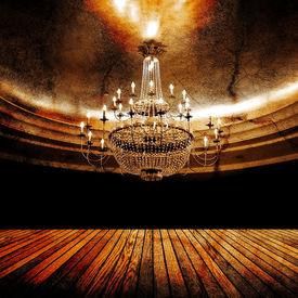 stock photo of flambeau  - grunge ballroom - JPG
