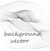 Abstract Smooth Gray Wave Vector. Curve Flow Grey Motion Illustration. Wave Gray poster