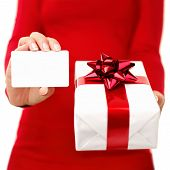 Christmas Present And Gift Card