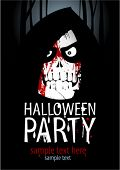 stock photo of night-club  - Halloween Party Design template - JPG