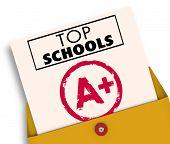 Top Schools Report Card Best Colleges Universities 3d Illustration poster