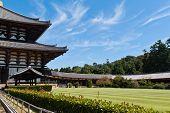 Todai-ji Temple Against Blue Sky