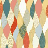 Seamless Wave Hand-drawn Pattern, Waves Background Seamlessly Tiling .can Be Used For Wallpaper, Pat poster
