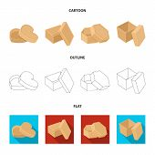 Box, Container, Package, And Other  Icon In Cartoon, Outline, Flat Style.case, Shell Framework Icons poster