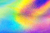Rainbow Real Holographic Foil Texture Background. Holographic Background. Vibrant Neon Texture. Tren poster