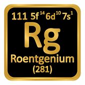Periodic Table Element Roentgenium Icon On White Background. Vector Illustration. poster