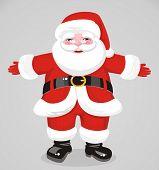 Jovial Santa Claus In Full Growth