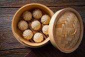 steamed pork buns recipe in bamboo steamer asian food poster