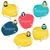 Testimonial Speech Bubble Concept, Customer Feedback For Info Graphic, Application For Info Graphic, poster