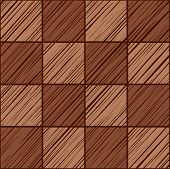 Tile Square, Seamless Background, Vector, Brown.  Squares Diagonally Shaded In Brown On A Dark Brown poster