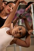 Cute Ballerina Bends Sideways