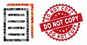 Mosaic Copy Document And Grunge Stamp Watermark With Do Not Copy Caption. Mosaic Vector Is Designed  poster