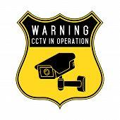 Security Camera. Cctv Icon. Video Surveillance Icon. poster