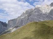 The Impressive Drusenfluh Ridge In Rhatikon Mountains Switzerland