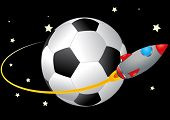 Soccerball And Spacecraft