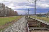 Railroad Embankment And A Road