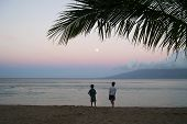 Kids On The Beach At Dawn