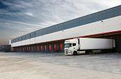 foto of loading dock  - Industrial image of loading docks and truck - JPG