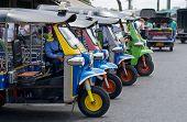 Tuk Tuk Taxis In Bangkok