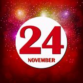 November 24 Icon. For Planning Important Day. Banner For Holidays And Special Days. Twenty-fourth Of poster