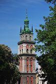 Facade Of The Church In Lviv (ukraine)