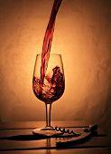 Wine Splash Composition