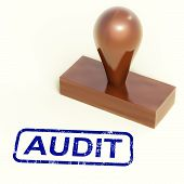picture of financial audit  - Audit Rubber Stamp Showing Financial Accounting Examination - JPG