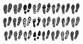 Print Of Shoe Vector Black Set Icon.vector Illustration Print Of Sole Shoe On White Background . Iso poster