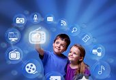 Kids Accessing Entertainment Applications From The Cloud
