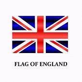 Bright Background With Flag Of England. Happy England Day Background. Bright Illustration With Engli poster