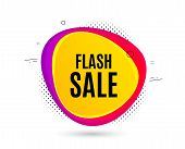 Flash Sale. Banner Text Shape. Special Offer Price Sign. Advertising Discounts Symbol. Geometric Vec poster