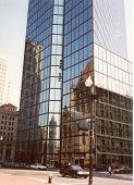 Hancock Building-Reflection poster