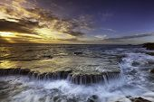 In Images Scenic Image Of Iceland. Incredible Nature Scenery During Sunset. Great View On Famous Mou poster