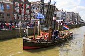 Schip, Jan De Sterke verlaten Harbor