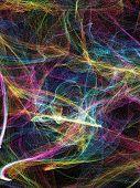fiery web on black background