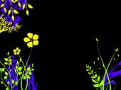 Brightly Colored Foliage Flower Plants At Night