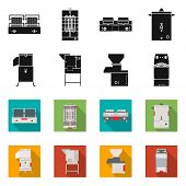 Isolated Object Of Domestic And Appliances Logo. Set Of Domestic And Furniture Stock Vector Illustra poster